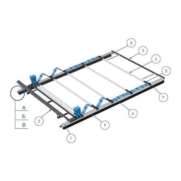 Шторный механизм для сдвижной крыши