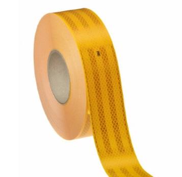 Лента для маркировки транспорта жёлтая
